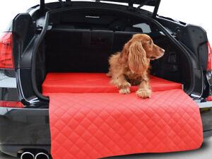 Autoschondecke - Kofferraum Schutzdecke - Auto - Hundematte in Rot Kunstleder