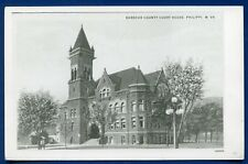Philippi West Virginia wv Barbour County Court House real photo postcard RPPC #1