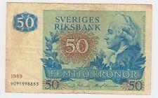 SVERIGES RIKSBANK SWEDEN BANKNOTES - 50 KRONER 1989 !
