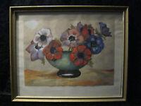 Acquerello con Legno Telaio - 29,5 x 21,5 cm - Autografato Curt Banco 1941 -