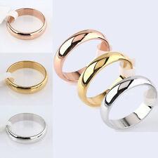 Simple Plain Band Engagement Wedding Ring Romantic 4.5mm Width US Size 6-12