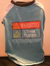 WARNING I Break Things Tshirt for Medium Size Dog
