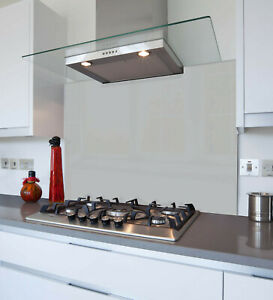 Grey Kitchen Glass Splashback Made From Toughened Heat Resistant Glass