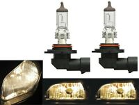 Halogen 9006 HB4 55W 3800K Stock Two Bulbs Head Light OE Fit Low Beam Lamp Plug