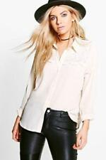 Camisa de mujer de color principal beige talla 42