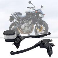 "Pair 7/8"" Motorcycle Hydraulic Brake Clutch Master Cylinder Reservoir Lever 22mm"