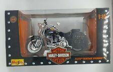 NIB 1997 FLSTS Heritage Springer Harley-Davidson 1:10 Model Motorcycle New Blue