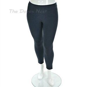 LAUREN CONRAD Women's PETITE X-LARGE Slim Fit DARK NAVY HEATHER LEGGINGS PXL