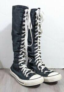 Converse All Star Knee High Zip Canvas Mens 7  Womens 9 XXHi Black 1V708 chucks