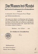 GG: Urkundenkonvolut Postbetriebsassistenen, Postsekretärin, Krakau/Potsdam