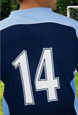 5 A SIDE SET OF FOOTBALL SHIRT NUMBERS 1-8 BLACK EASY TO APPLY Iron / Heatpress