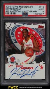 2006 Topps Mcdonald's All American Kevin Durant ROOKIE RC AUTO #B19 PSA 9 MINT