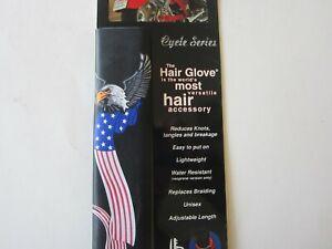 "8"" inch Hair Glove Hair holder Eagle and Flag Biker accessories"