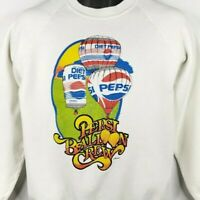 Pepsi Hot Air Balloon Crew Sweatshirt Vintage 80s Diet Pepsi Made In USA Large