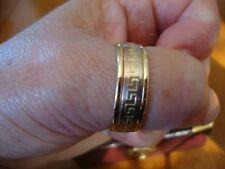 10K SOLID GOLD TRICOLOR GOLD GREEK KEY DESIGN MEN'S BAND 8.0 GRAMS SIZE 11.5