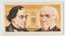Original 1960s UK Trade Card - UK Prime Ministers William Gladstone & Disraeli