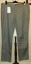 Zadig et Voltaire 100% Coton-Pantalon Gris Taille UK 40 W 32.5 L