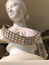Vintage Demi Parure Fabulous Heavy Emerald Cut Paste Necklace Bracelet Wedding