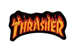 Thrasher Skateboard Magazine Flame Logo Patch