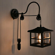 Industrial Pulley Wall Light Sconce Vintage Gooseneck Wall Mounted Lamp Fixture