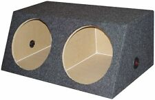 "NEW Q-Power QSMBASS15 Dual 15"" Carpet Subwoofer Sub Box Sealed Speaker Enclosure"