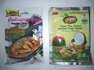 Panang Curry Paste Coconut Milk Powder Thai Prepared Foods Cooking Camping MREs