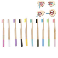 Natural 100% Pure Bamboo Wooden Toothbrush Eco Friendly Soft Bristle Brush FT
