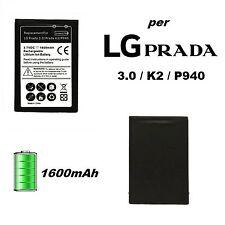 BATTERIA DI RICAMBIO PILA 1600 MAH PER LG PRADA 3.0 / K2 / P940