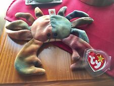 Authentic Rare TY Beanie Baby CLAUDE The Crab with errors!! In mint condition.