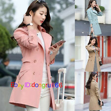 Fashion Spring New Women's Long Slim jacket trench coat windbreaker Outwear