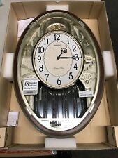 SEIKO  MELODY IN MOTION CLOCK - QXM369BRH WITH 18 HI-FI MELODIES  =