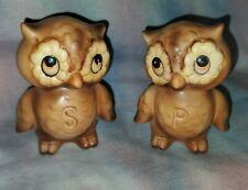 Vintage Josef Originals Owl salt and pepper shakers, made in Japan
