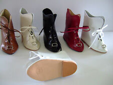 ZAPATOS de cuero para MUÑECAS antiguas- DOLL zapatos - Botines T13(10.5)