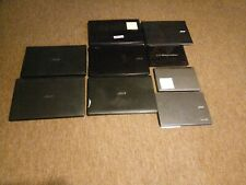 Lot of 9 mixed acer laptops for parts/repair see description