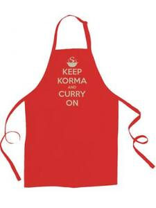 KEEP KORMA AND CURRY ON- humorous indian cuisine unisex apron