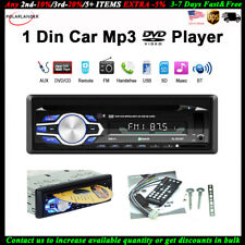 Single 1 Din Car DVD CD MP3 Player BT FM Radio In-dash Audio Stereo USB/AUX/SD