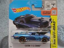 HOT WHEELS 2014 #116/250 Custom 1971 El Camino blu CACCIA AL TESORO batch L