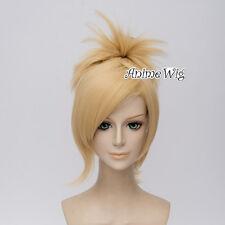 Blonde Ponytail Halloween Overwatch OW Mercy Angela Ziegler Anime Cosplay Wig