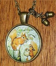 🍁 SQUIRREL NECKLACE 🍁ACORN FOREST NATURE 🍁 LIBRARIAN GIFT SQUIRREL NUTKIN  🍁