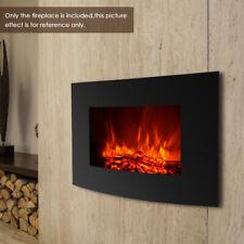 "Ikayaa 35""*22"" Electric Wall Mount Fireplace 3D Flame Heater Remote Control O1M8"