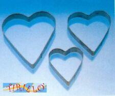 FIMO CERNIT - Set 3 stampini grandi in metallo per FIMO e CERNIT - cuore
