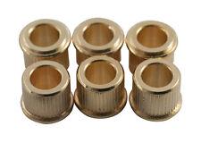 Kluson Guitar Tuner Conversion Bushings • Metric • 10mm OD/6.14mm ID • Gold (6)