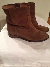 Isabel Marant 36/US 6/6.5 Taupe Brown Distressed Suede CRISI Hidden Wedge Boots
