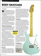Line 6 Variax 600 modeling electric guitar 8 x 11 sound check review article