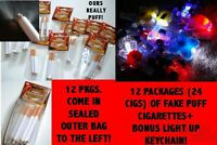 NEW COSPLAY HALLOWEEN COSTUME FAKE PUFF CIGARETTES-THEY REALLY PUFF +KEYCHAIN