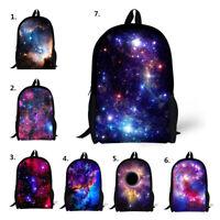 Galaxy Print Backpack Women Girls School Bookbag Shoulder Satchel Rucksack Bags