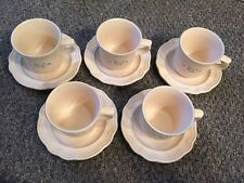 Pfaltzgraff Remembrance Series Coffee Mugs w/ Saucers (Set of 5)