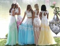 Sherri Hill 51122 Ivory Yellow Gorgeous Prom Ombre Gala Gown Dress sz 4