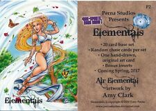 PERNA STUDIOS ELEMENTALS PROMO CARD #P2 PHILLY SHOW
