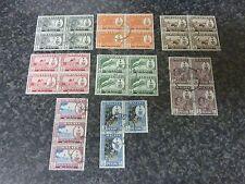 MALAYA STATES PENANG POSTAGE STAMPS SG55-60,62,63 1960 SUPERB USED BLOCKS OF 3&4